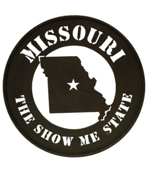 "MO Wall Metal Art 24"" State Outline"