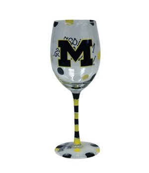 U of M Drinkware Wine Glass 12oz
