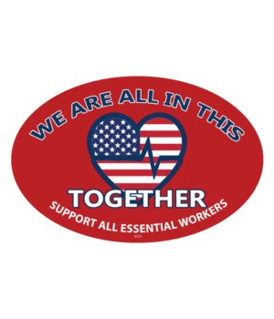 Covid We are all in this /Supoval magnet