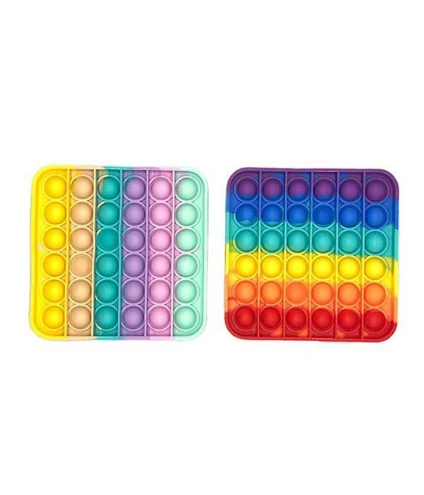 """Square Rainbow Bubble Fidget 5"""""""