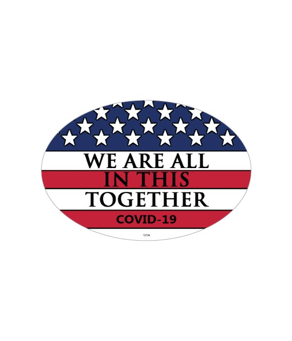 Covid We are all in this oval magnet