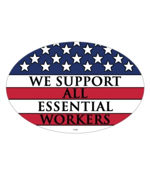 Covid Support Essential work oval magnet