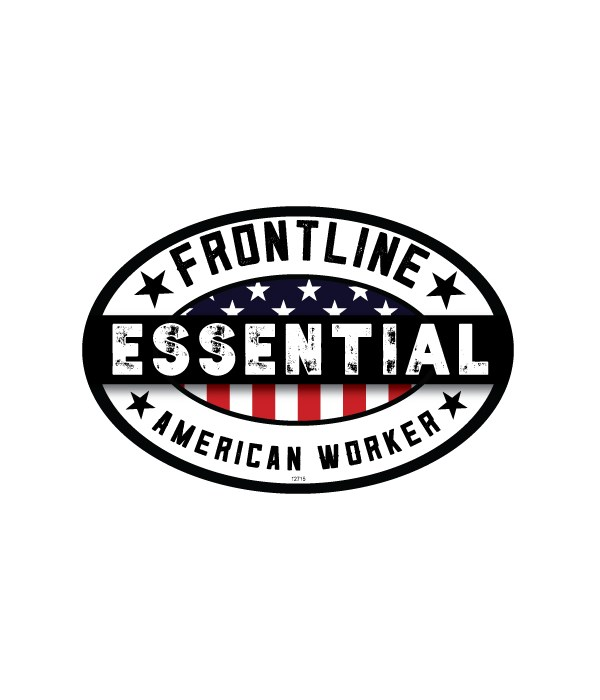 Essential Worker Oval Magnet