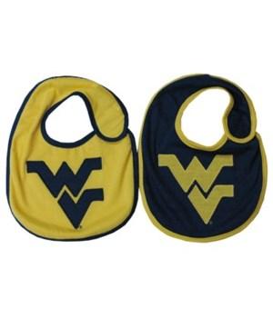 WV-U Infant Bib Logo 2PC
