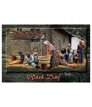 Hillbilly Wash Day Postcard