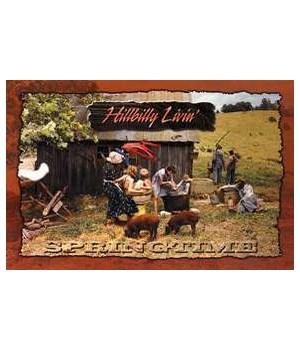 Hillbilly Springtime Postcard