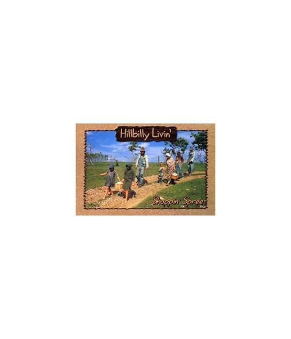Hillbilly Shopping Spree Postcard