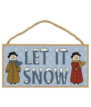 Let it snow (with snow people) 5x10