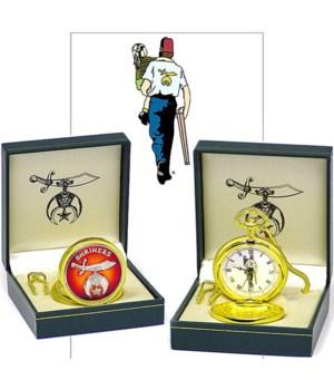 Shriners pocket watch