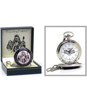 4 Chiefs (native Am) pocket watch