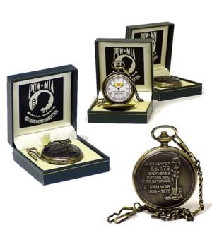 Vietnam POW*MIA pocket watch