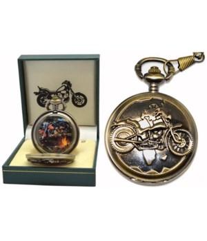 Motorbike pocket watch