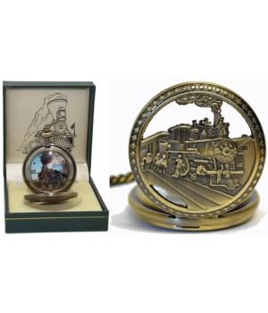 Train pocket watch