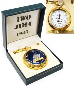 Blue Iwo Jima pocket watch