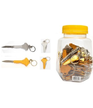 "Key knife 4.5"" open 2/A 24PC Jar"