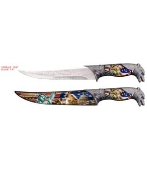 """K-108 Rainbow  4.5"""" S/A knife"""