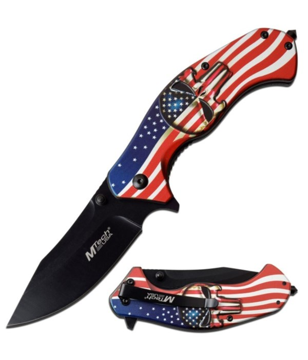"""OTF 5.5"""" Black with red trigger knife"""