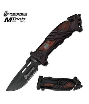 """K5 Black w/ Pakkawood inlay 5"""" S/A knife"""