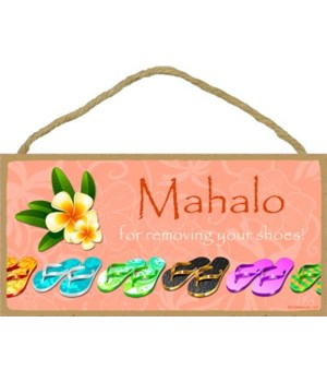 Mahalo for taking your shoes off (with t