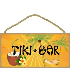 Tiki Bar (with hammock and coconut drink