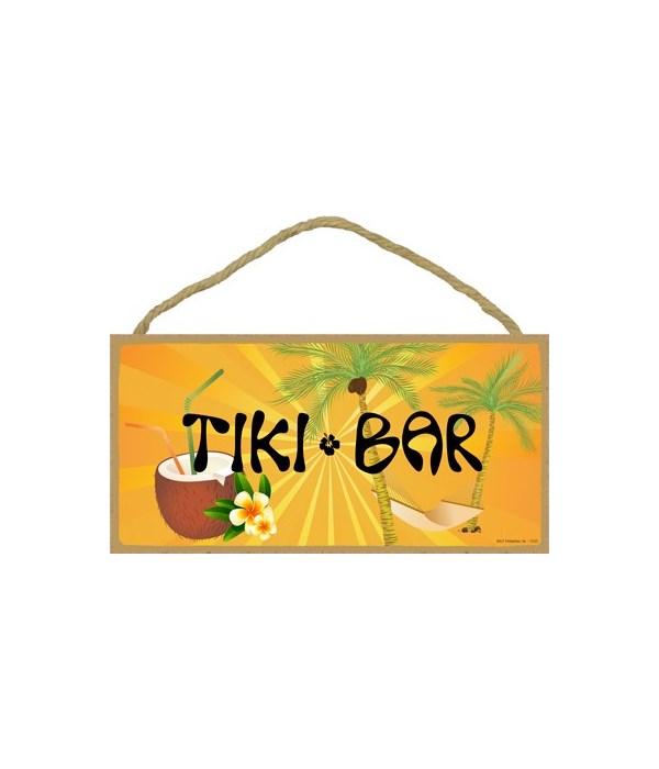 Tiki Bar (with hammock and coconut drink