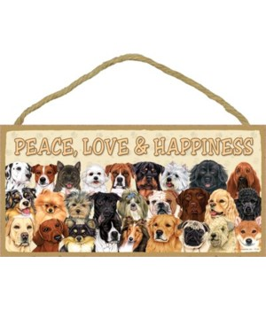 Peace, Love & Happiness (with 3 rows of