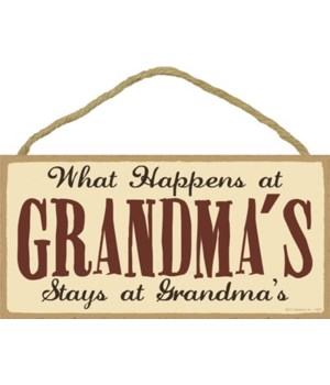 What happens at Grandma's stays at Grand