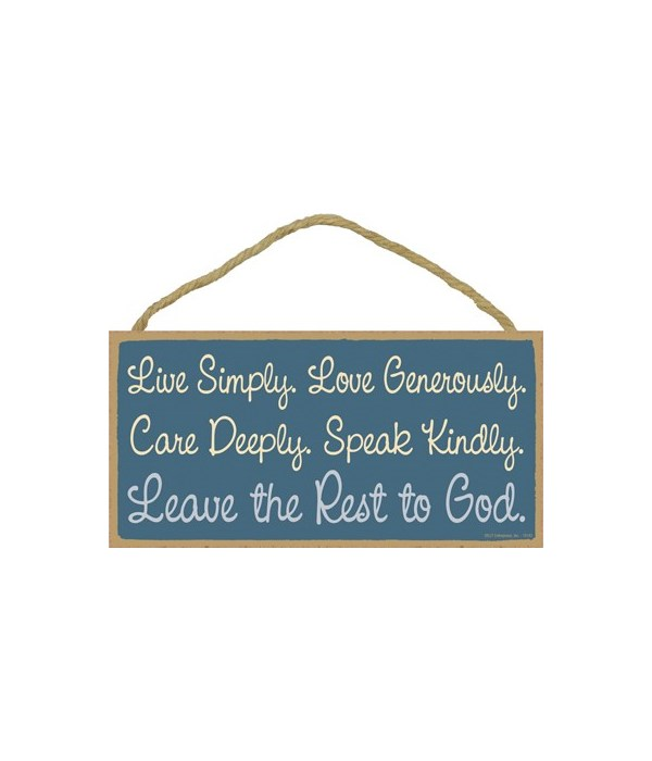 Live Simply. Love Generously. Care Deepl