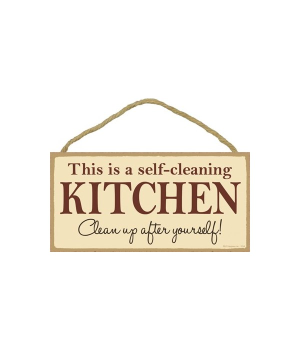 This is a self-cleaning kitchen Clean up