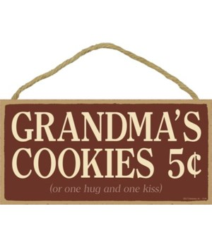 Grandma's Cookies 5¢ (or one hug and one