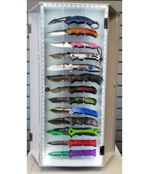 Knife Dsp/3-Sided LED/Holds 39Knives