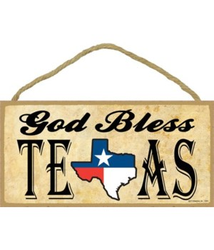 God Bless Texas (Texas flag in Texas sta