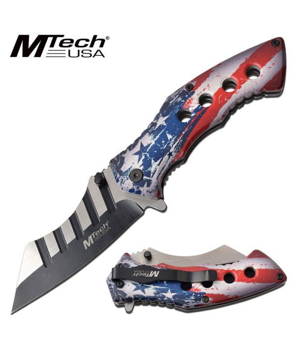 """Distressed flag handle 4.75"""" S/A Knife"""