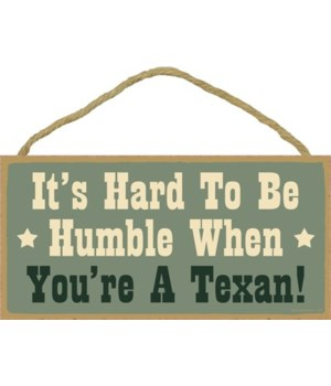 It's hard to be humble when you're a Tex