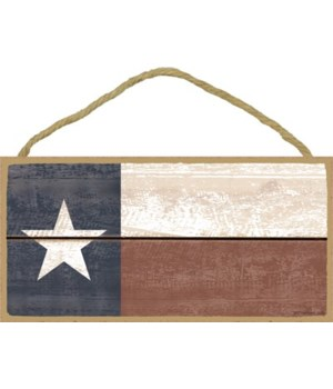 Texas Flag (faded wood look) 5x10