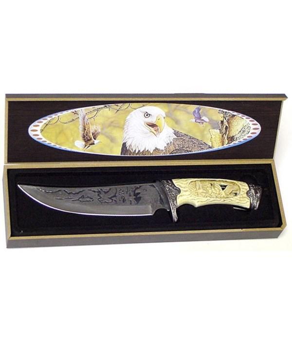 """Eagle 6"""" BL/ 11""""L Dagger/carved bl&handl"""