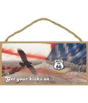 Get your kicks on… (eagle, american flag