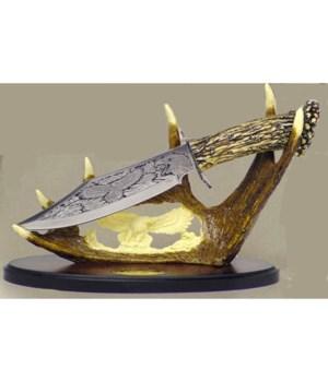 """Eagle Dagger-7.5"""" Blade& 10""""carved stnd"""