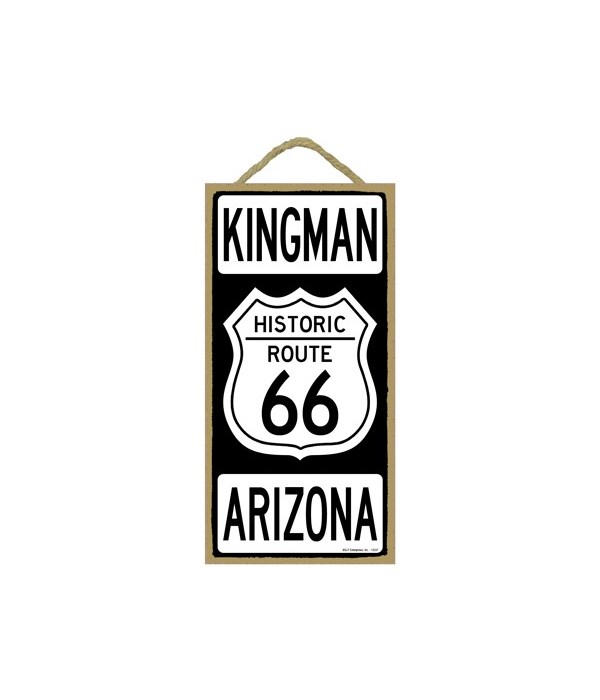 Historic ROUTE 66 Kingman, Arizona (blac
