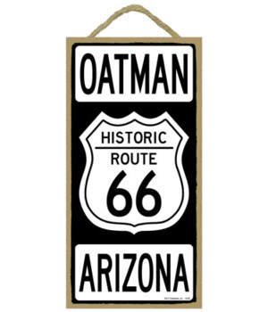 Historic ROUTE 66 Oatman, Arizona (black