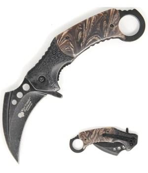 "Brown/ black krambit S/A knife 5.25"""