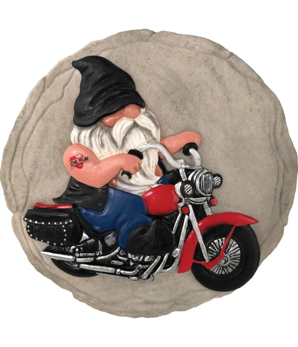 MOTORCYCLE GNOME STEP STONE