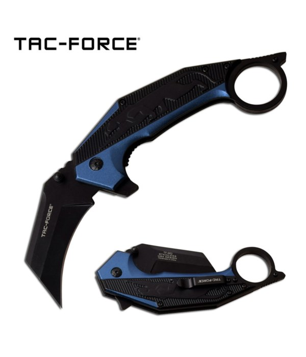 Black/Blue Tac-Force Spring Assisted Knife