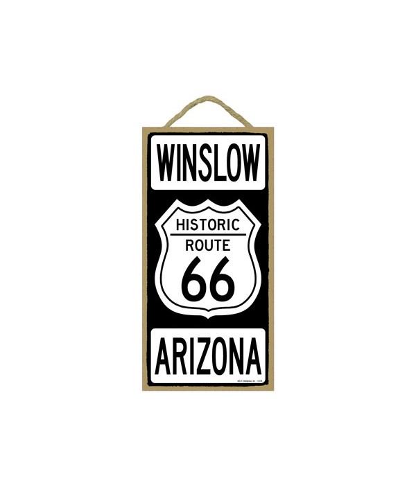 Historic ROUTE 66 Winslow, Arizona (blac