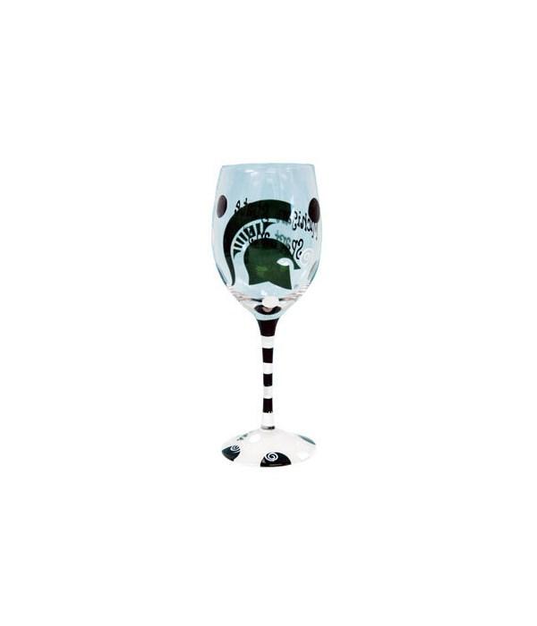 MSU Drinkware Wine Glass 12oz