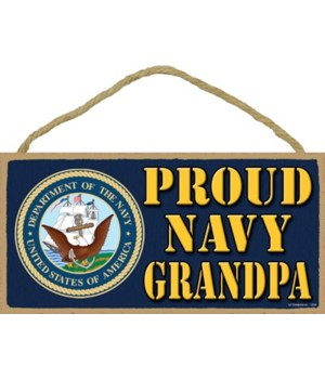 Proud Navy Grandpa 5x10
