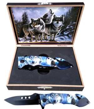 "Wolf knife 5"" S/A Boxed"