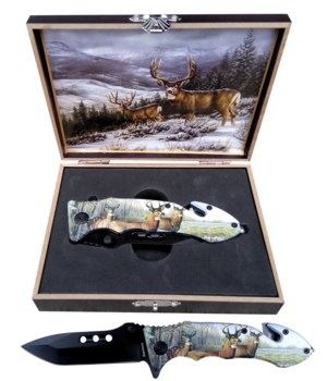 "Deer knife 5"" S/A Boxed"
