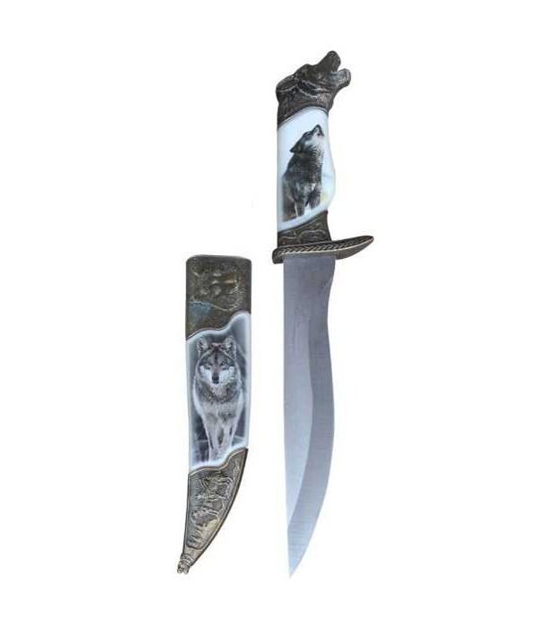 """Wolf dagger- 8"""" blade/ sheath"""