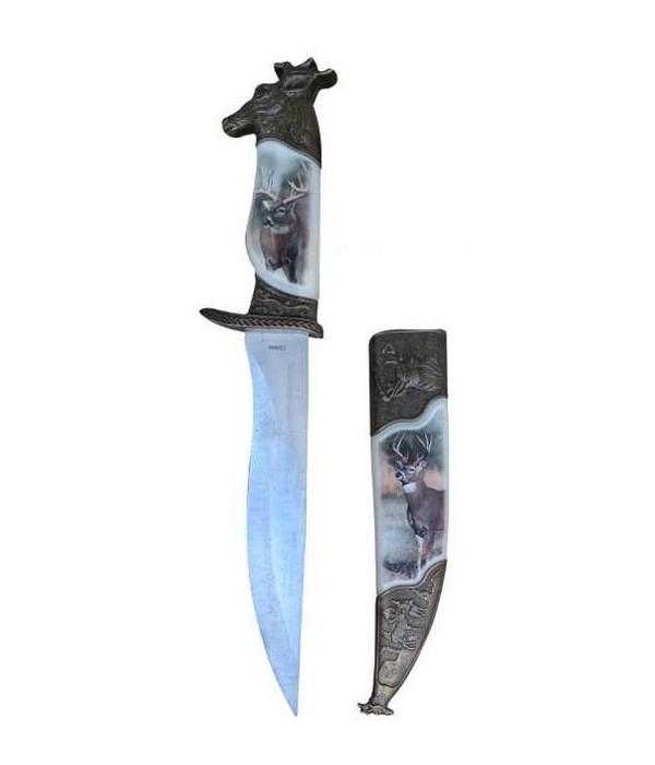 "Deer dagger- 8"" blade/ sheath"
